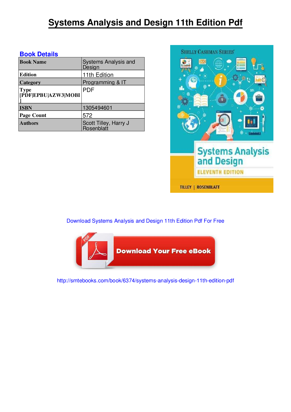 Systems Analysis And Design 11th Edition Pdf 1 Form Fillable Pdf
