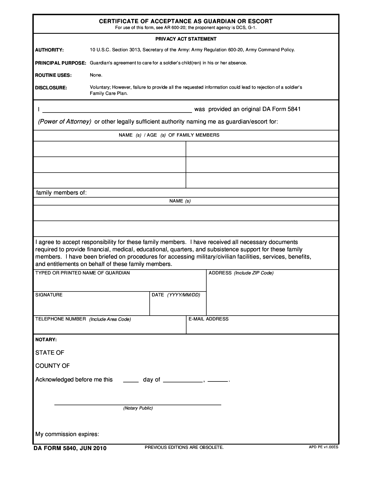 DA-Form-5840-R Form – Fillable Pdf Template – ✅ Download Here!