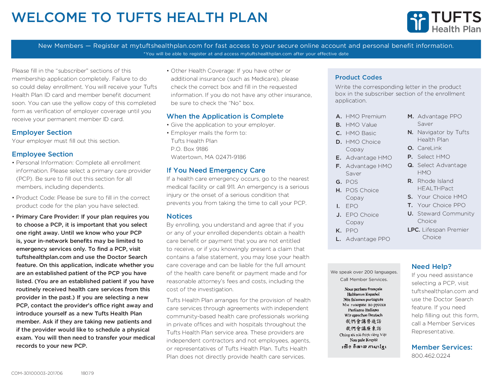 New Members Register At Mytuftshealthplan Form Fillable Pdf