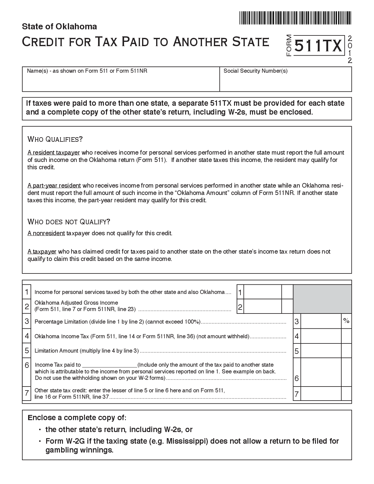511TX Form – Fillable Pdf Template – ✅ Download Here!